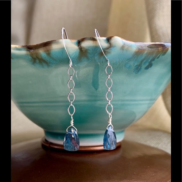 Jewelry - Kyanite Sterling Silver Earrings